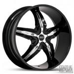 DYSTANY S802 BLACK WITH CHROME INSERTS