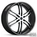 KNIGHT-6 S817 BLACK WITH MACHINED FACE